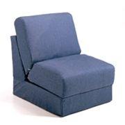 Fun Furnishings Blue Denim Teen Sleeper Chair