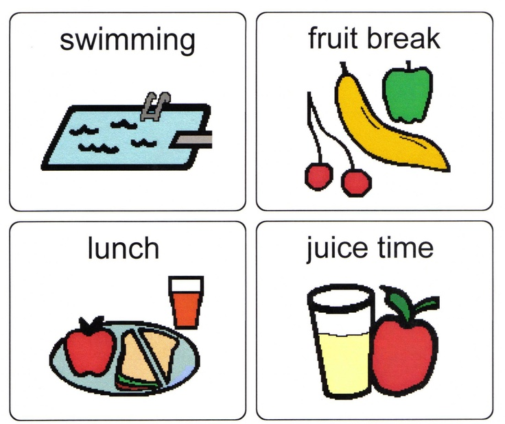 A set of PCS symbols to use in visual timetables.