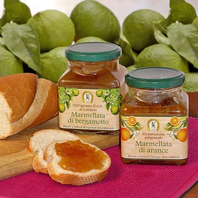 Marmellata di bergamotto e di arancia. Bergamot and orange jam from Calabria. Design etichette - Label Design - Cliente: La Spina Santa - Bova Marina (RC) - Italy