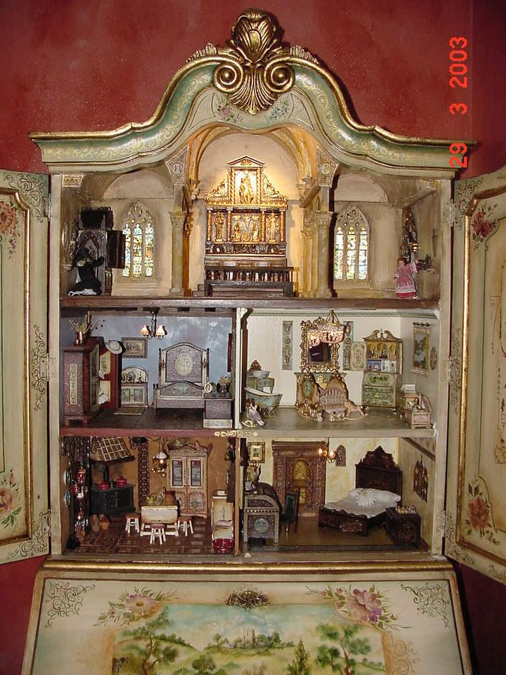 5 (jt-follow through to see close up of the miniature rooms particularly the chapel and stained glass windows on top level. Beautiful and highly detailed)