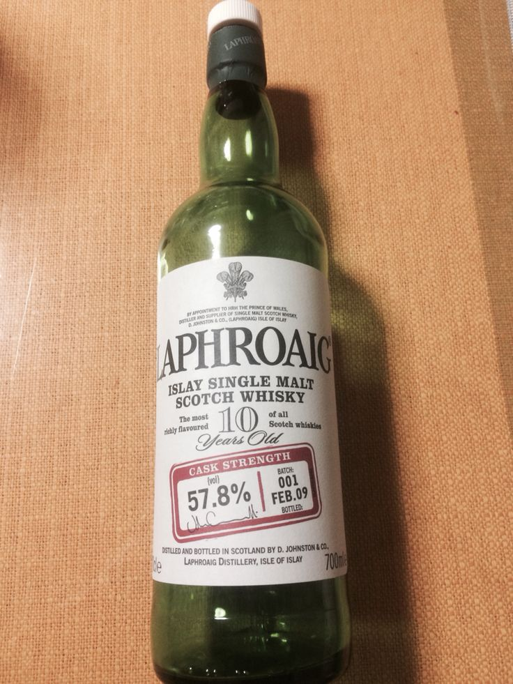 LAPHROAIG cask strength 10 years old