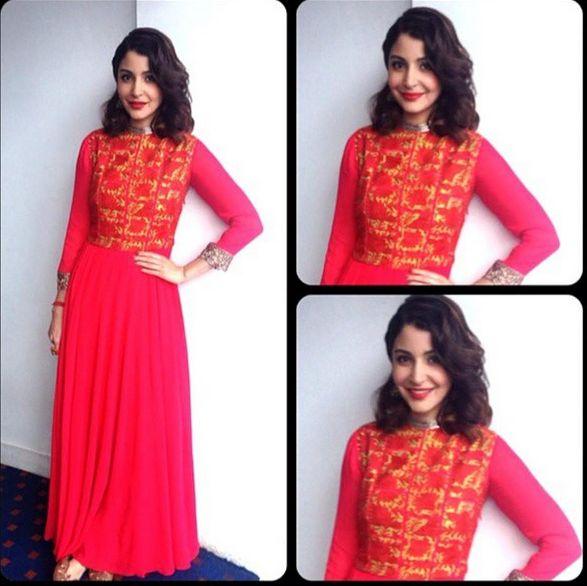 Top Indian fashion and lifestyle blog: Anushka Sharma during PK promotions