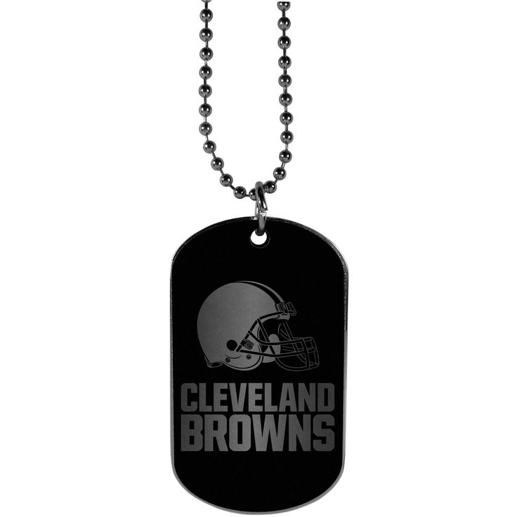 """Checkout our #LicensedGear products FREE SHIPPING + 10% OFF Coupon Code """"Official"""" Cleveland Browns Chrome Tag Necklace - Officially licensed NFL product 26 inch ball chain with ball and joint clasp Classic dog tag style necklace Sporty, monochromatic style Perfect accessory for any Cleveland Browns fan - Price: $16.00. Buy now at https://officiallylicensedgear.com/cleveland-browns-chrome-tag-necklace-ftnb025"""