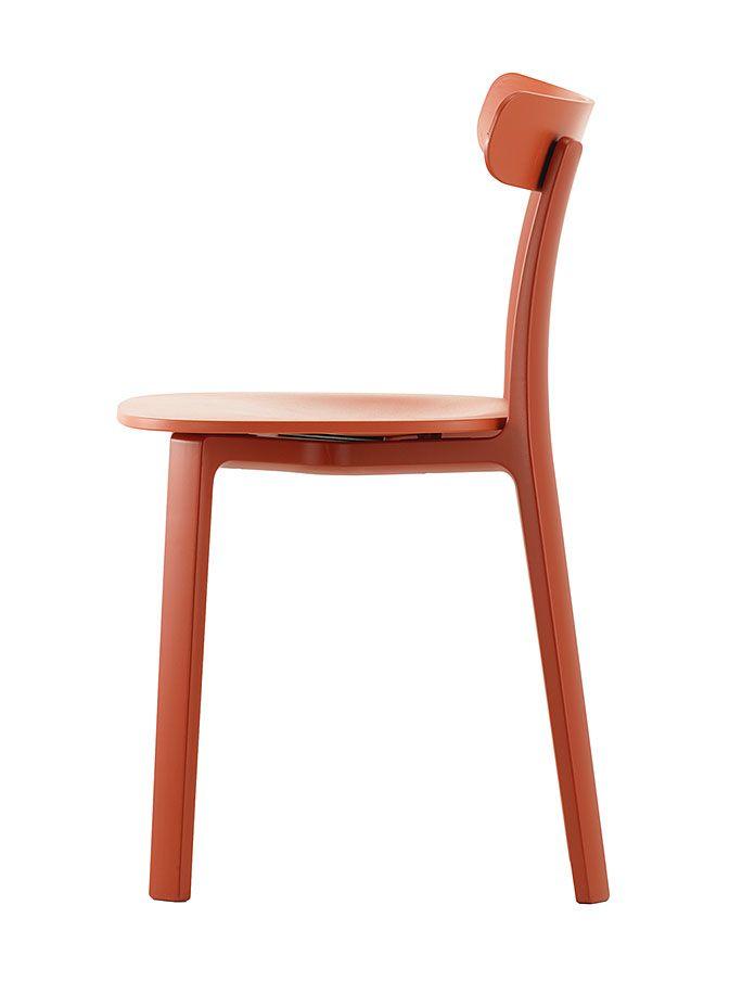 Chaise All Plastic Chair Brique Chaise Plastique Brique