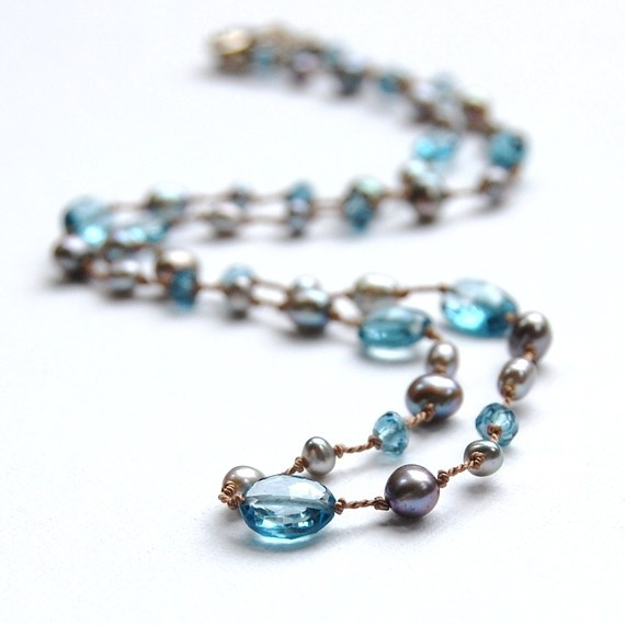 Free Shipping  Grey Freshwater Pearls and by EmmaAlisonDesigns, $148.00