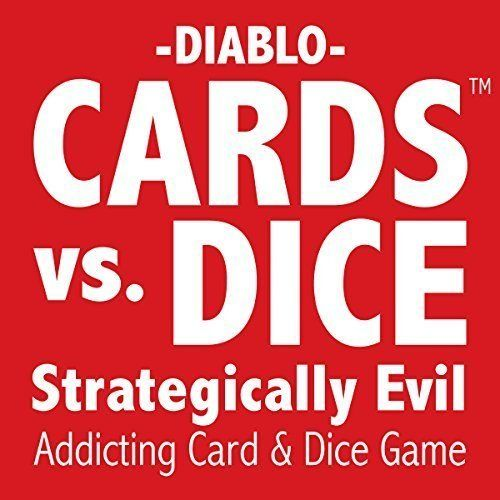 CARDS vs. DICE - Strategically Evil - A card game for kids teens and adults.
