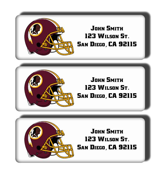 Washington Redskins Labels
