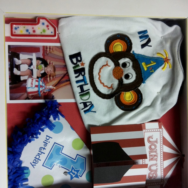 First Birthday Shadow Box Kids Birthdays 1st Birthday