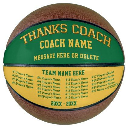 All Players Names Personalized Basketball Ball - thank you gifts ideas diy thankyou
