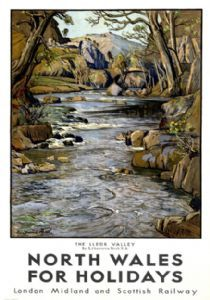 North Wales vintage travel poster