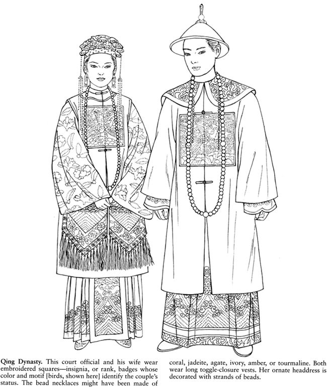 Chinese Fashions: Dover Publications Sample