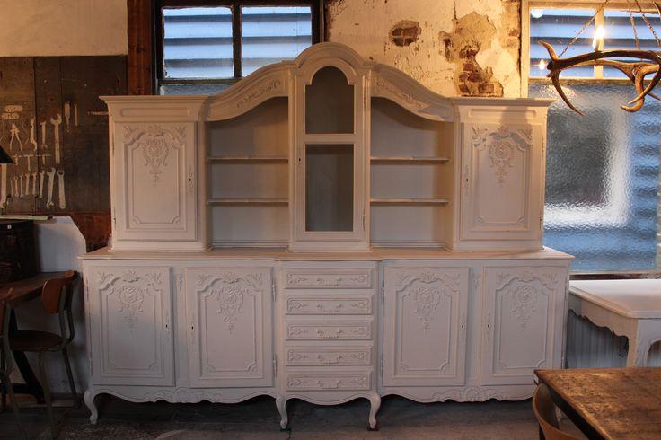 Grote Keukenkast : www.dewirwar.nl Grote brocante keukenkast, winkelkast, wandkast