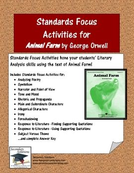 a literary analysis of the animal farm by george orwell Results 1 - 20 of 32500  see more ideas about animal farm george orwell, farms and the  become  more independent in their analysis and critical thinking.