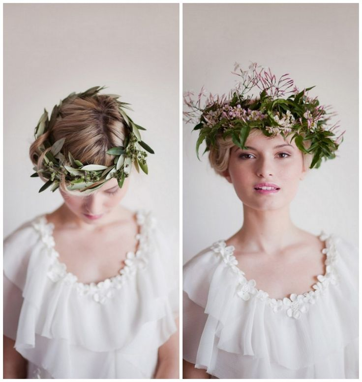 Groene krans   De mooiste bruidskapsels van deze herfst