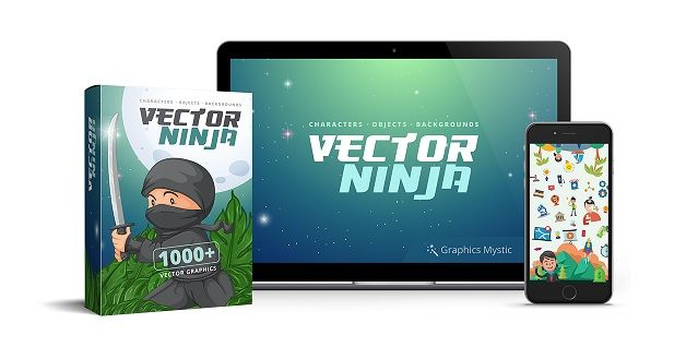 Vector Ninja is a stunning all-in-one vector graphics solutions. It comes with 2 file formats: PNG (raster graphic) and SVG (vector graphic). Vector Ninja it's jam-packed with 1,000+ high-quality vector graphics.