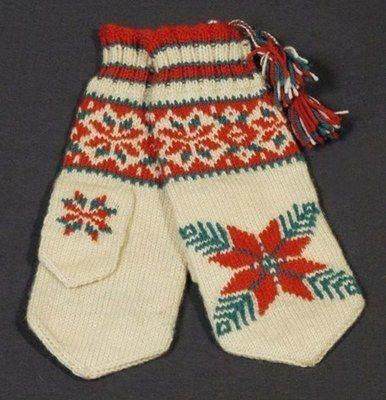 inari sami mittens knitting pattern