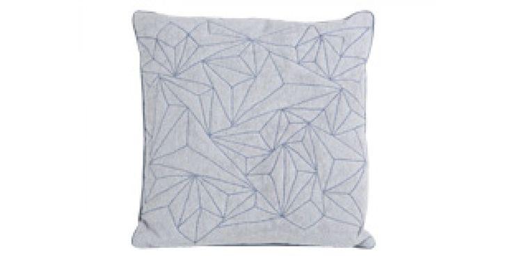 Cuscino trapuntato Apex, grigio perla e azzurro | made.com