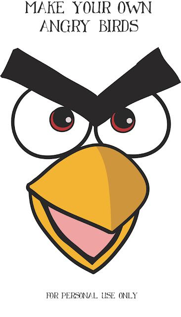 ANGRY BIRD FACE for balloons and many more free printables