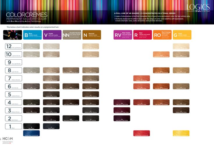 Logics Color Dna System Colorcremes Shades Palette