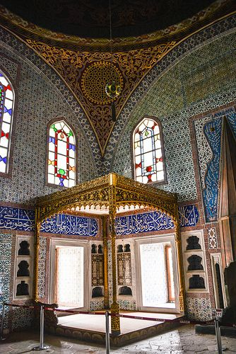 Imperial Chamber at Topkapi Palace, Istanbul, Turkey