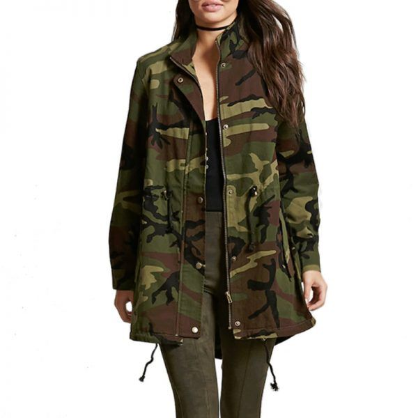 - Forever 21 Longline Camo Print Jacket, $33.