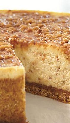 English Toffee Cheesecake - oh I must must must do this and then spend three hours on the treadmill