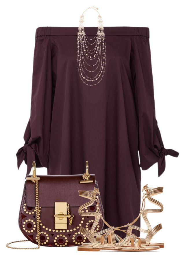 Untitled #2746 by mzmamie on Polyvore featuring polyvore fashion style Zac Posen Gianvito Rossi Chloé BCBGMAXAZRIA clothing