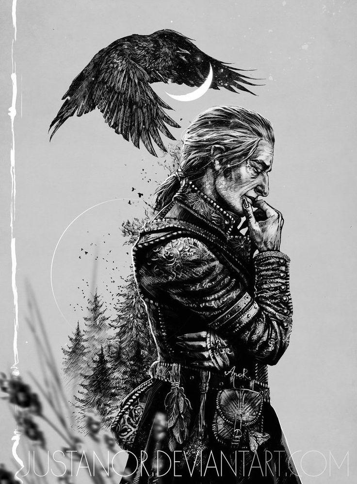 Сборник артов по Ведьмаку Ведьмак, арт, Геральт из Ривии, Цири, длиннопост, Йеннифер