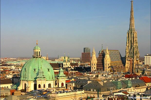 vienna city: is a city with impressive history with main draws like the imperial architecture,handsome palaces,Fantastique parks and luxurious museums.