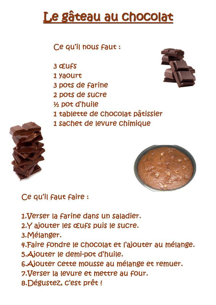 La maternelle de Laurène: Le gâteau au chocolat