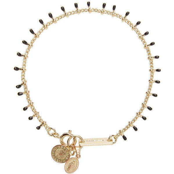 Isabel Marant Gold and Black Beaded Casablanca Bracelet (8385 ALL) ❤ liked on Polyvore featuring jewelry, bracelets, necklaces, beaded bangles, bead jewellery, coin jewelry, beading jewelry and black and gold jewelry