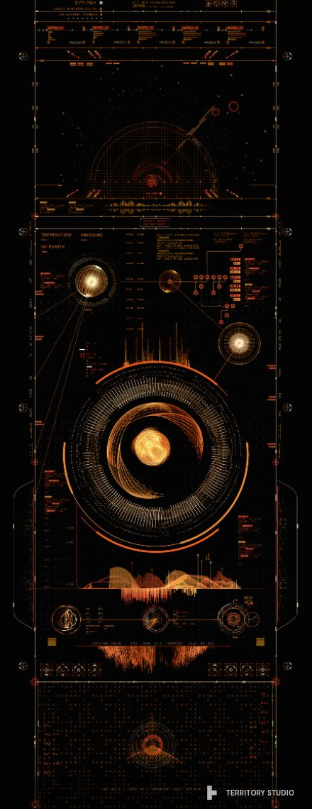 Guardians of the Galaxy - Screen Graphics by Territory, via Behance