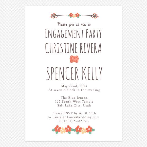 15 best Engagement Invites images on Pinterest Engagement party - engagement party invites templates