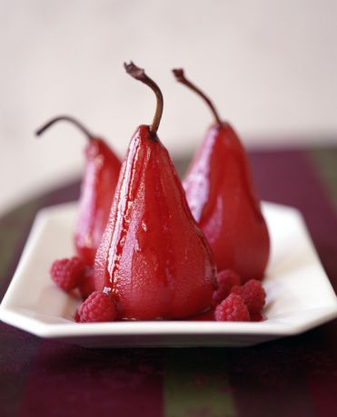 Wine Poached Pear Recipe-made these and ate with mascarpone cream cheese, like heaven in your mouth!!