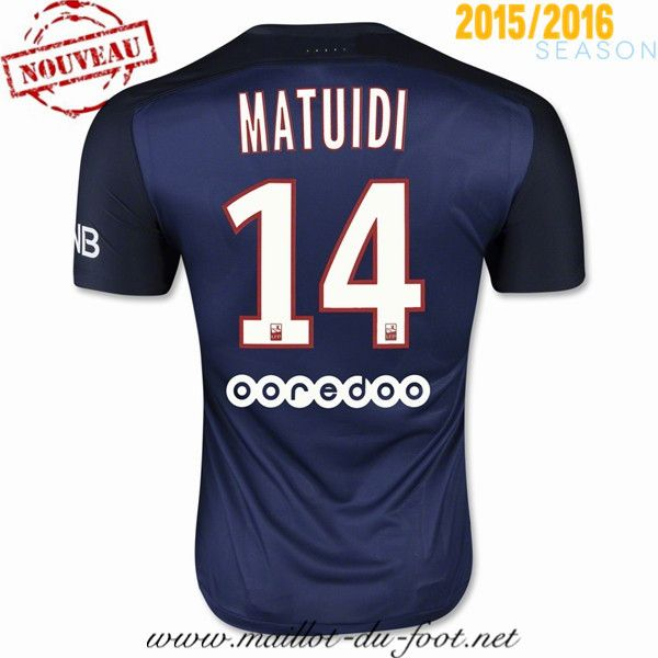 site officiel maillot foot psg MATUIDI 14 domicile 2015 2016 decathlon
