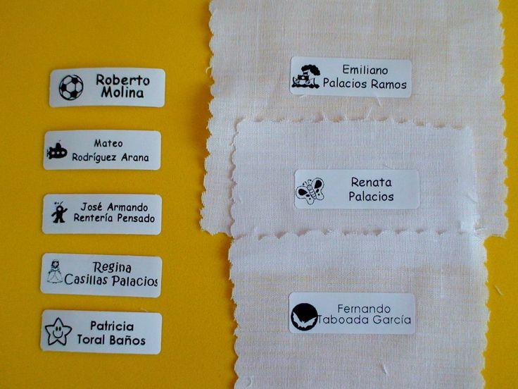 Ideales para marcar cualquier textil. Resisten lavadora y secadora industrial. No se despegan ni despintan! www.identiquetalo.com.mx