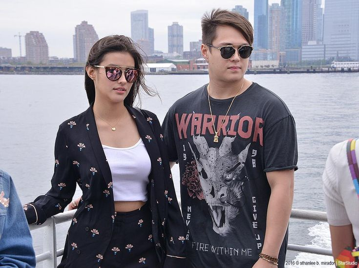 This is Liza Soberano and Enrique Gil smiling for the camera at Brooklyn Bridge in New York City prior to the start of ASAP Live in New York in New York City last September 3, 2016. #LizaSoberano #AteHopie #EnriqueGil #LizQuen #ASAPLiveinNewYork