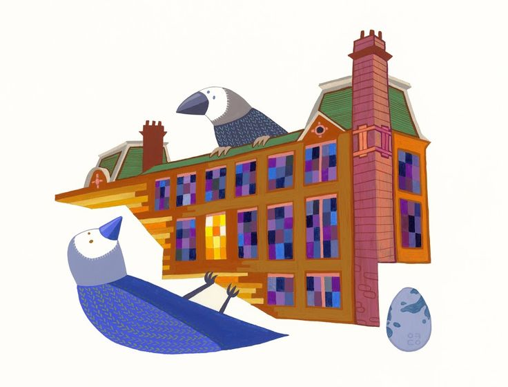 Building: Two Birds Looking at each other (2012) by Eunyoung Seo