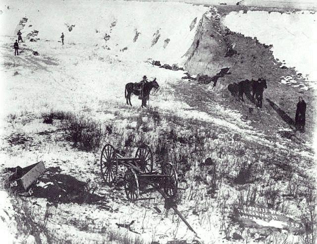 wounded knee massacre The wounded knee massacre occurred on december 29, 1890, near wounded knee creek (lakota: čhaŋkpé ópi wakpála) on the lakota pine ridge indian reservation in south dakota, usa it was the last battle of the american indian wars.