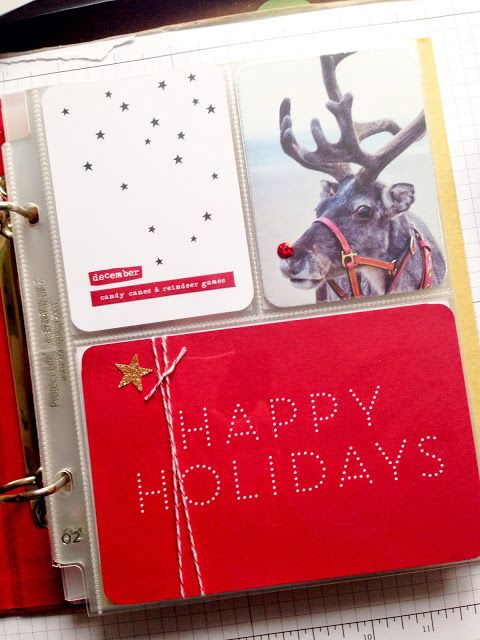 Rubberdubber!: Project Life Hello December journal - cover (video)