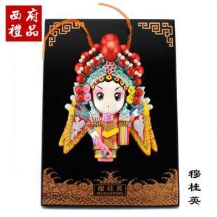 West peking-Oper-Haus-Dekoration chinesische windeigenschaften ton handwerk geschenke an ausländer ins