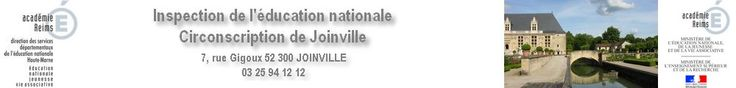 Inspection de l'éducation nationale, Circonscription de Joinville  - des recommandations - des sites qui traitent du sujet