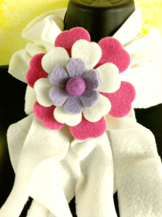 Flower made with fleece