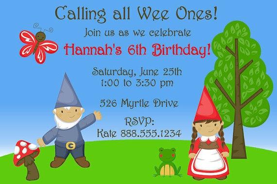 Gnome birthday party!