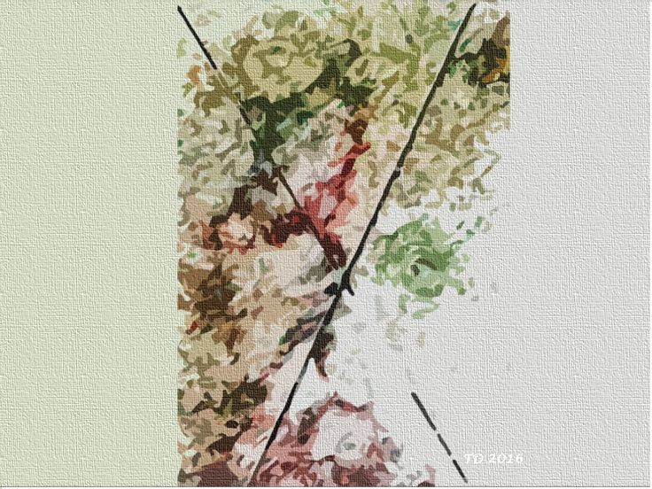 Tate Artwork. Cross Roads - edited ink paint sketch is signed and dated by Tate Devros. Inspired by the fight to live and loss to a disease leaving its mark. JPEG file size: 2014 x 768 pixels.See it, buy it and download it today....