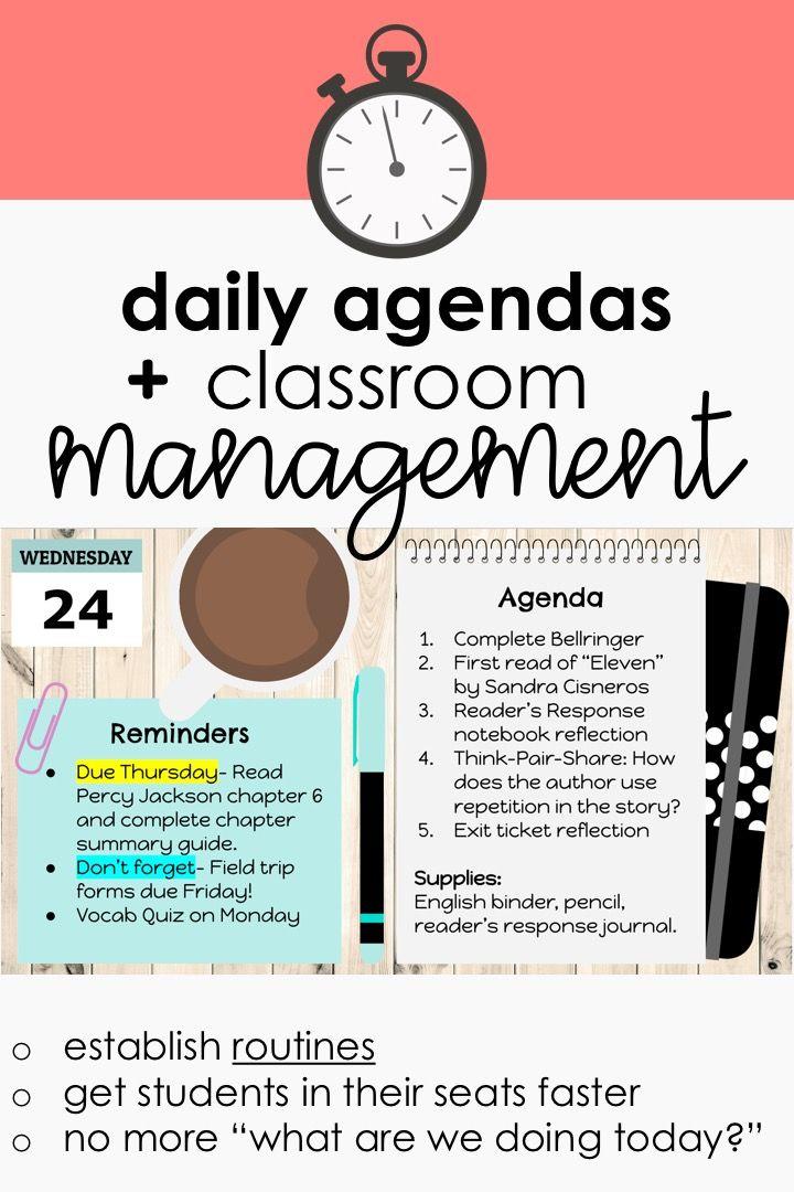 Daily Agenda Google Slides Set 3 Resource Classroom Middle