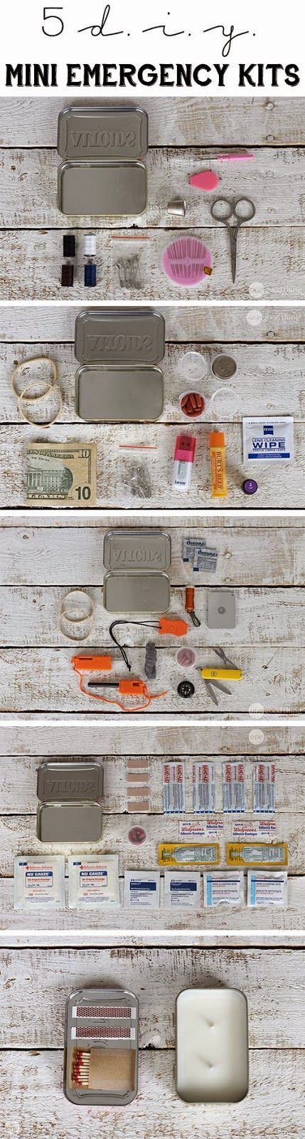 Craft Project Ideas: 5 DIY MINI EMERGENCY KITS