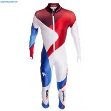 Descente Swiss Alpine Team GS Race Suit – Blue White Red