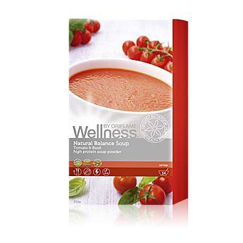 Zdravá, lahodná a 100% přírodní polévka obsahuje tři zdroje bílkovin pro optimální výživu a bezpečnost. Nízkotučný recept se zdravým olejem z řepkových semínek. Příprava: Smíchejte dvě polévkové lžíce (28 g nebo 0,5 dl) prášku s 220 ml horké (vařící) vody a promíchejte dohladka. Obsahuje 14 porcí. Ve dvou příchutích. 392  g