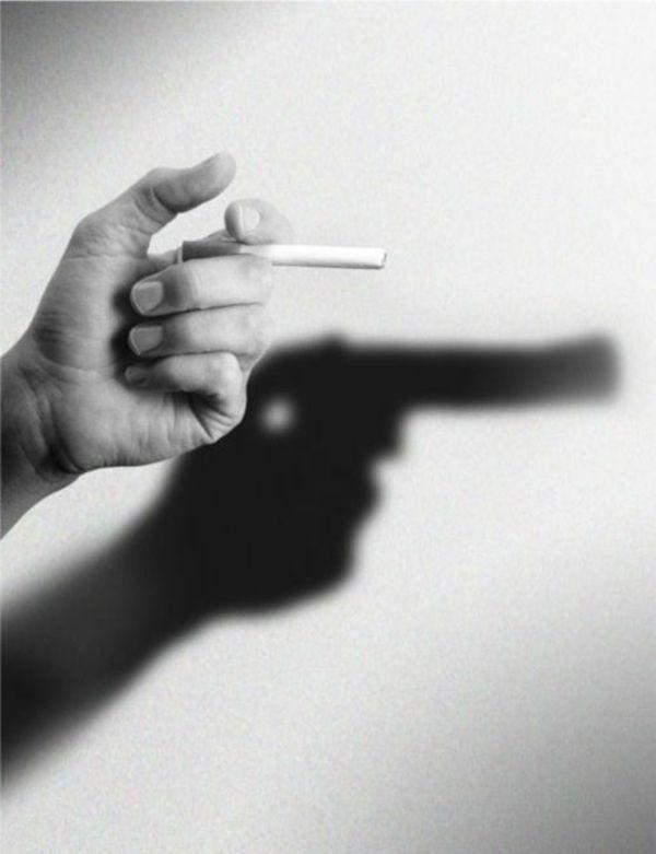 Une belle représentation de la cigarette qui tue